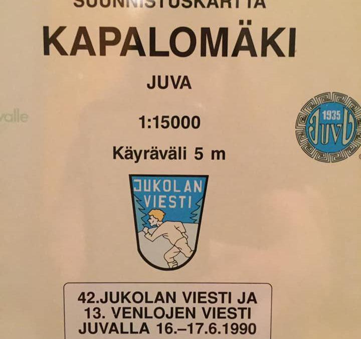 Jukolan viesti 30 v sitten Koikkalan maisemissa
